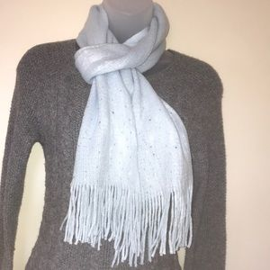 New York & Company Bejeweled Fringed Scarf